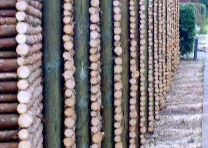 Raftehegn - granrafter med bark